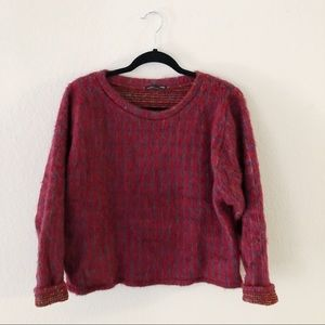 ZARA Shag sweater
